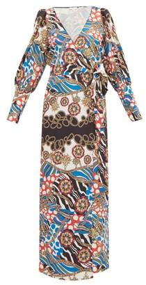 Rhode Resort Aspen Scarf Print Dress - Womens - Cream Multi