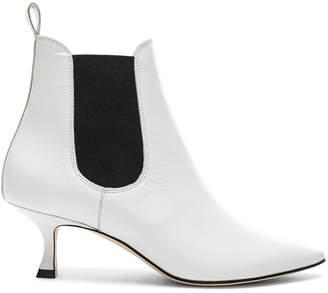 Manolo Blahnik Leather Chelsa 50 Boots