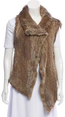 Calypso Fur Open Front Vest
