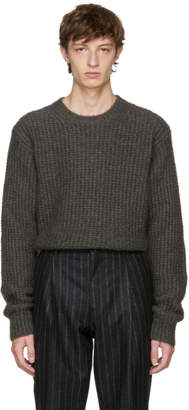 Stella McCartney Taupe Mohair Crewneck Sweater