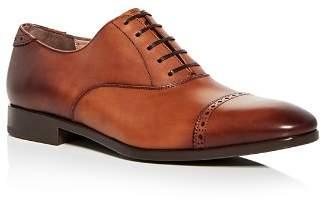 Salvatore Ferragamo Men's Leather Brogue Cap Toe Oxfords
