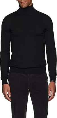 Brioni Men's Fine-Gauge Wool-Blend Turtleneck Sweater