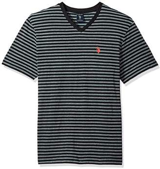 U.S. Polo Assn. Men's Short Sleeve V-Neck Striped T-Shirt