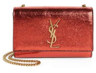 Saint Laurent Small Kate Metallic Leather Crossbody Bag