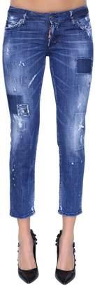 DSQUARED2 Jennifer Patches Cropped Denim Jeans
