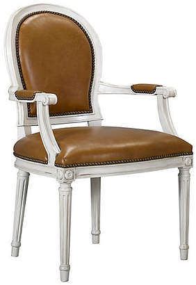 St. Pierre Armchair - Saddle Leather - Mark D. Sikes