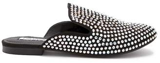 Forever 21 Embellished Faux Suede Loafer Mules