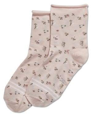 Hue Women's Ultralite Rolled Edge Shortie Socks
