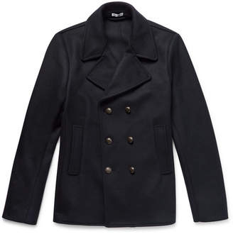 Tomas Maier Double-Breasted Wool-Blend Felt Peacoat