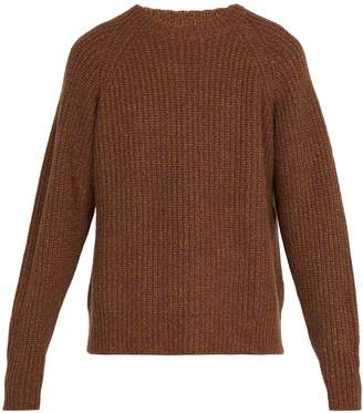 Lemaire Crew-neck ribbed wool-blend sweater