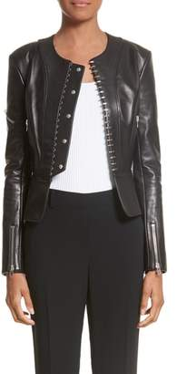 Alexander Wang Hook Detail Lambskin Leather Jacket