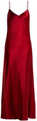 GALVAN Sienna bias-cut satin crepe gown