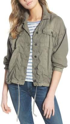 Splendid Linen Blend Drape Jacket