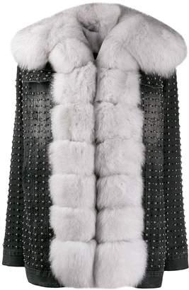 Philipp Plein crystal denim jacket