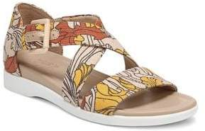 Naturalizer Elliot Printed Demi-Wedge Sandals