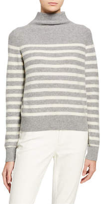 Vince Breton Stripe Cashmere Turtleneck Sweater