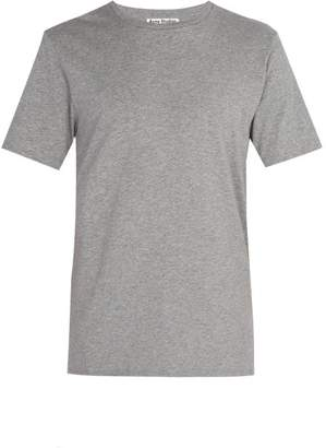 Acne Studios Measure Crew Neck Cotton T Shirt - Mens - Grey