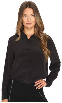 The Kooples Boyfriend Shirt in Plain Silk