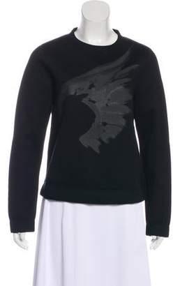 Valentino Neoprene Crew Neck Sweatshirt