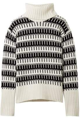 Theory Wool And Cashmere-Blend Jacquard Turtleneck Sweater
