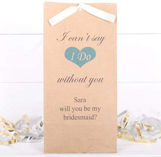 red berry apple Will You Be My Bridesmaid Personalised Gift Bag