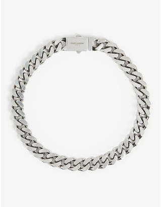 Gourmette silver chain necklace