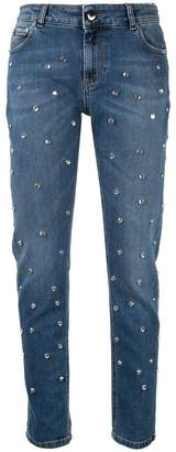 RED Valentino crystal embellished jeans