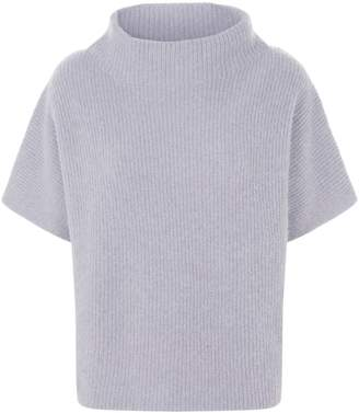 Peserico Ribbed Lurex Short Sleeve Sweater