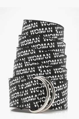 boohoo Ava Woman Printed Longline Belt