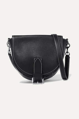 J.W.Anderson Bike Small Smooth And Textured-leather Shoulder Bag - Black