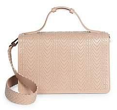 Alaia Women's Medium Franca Studded Leather Shoulder Bag