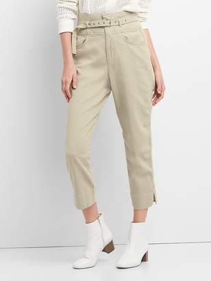 Gap High Rise Chinos with Belt in Color