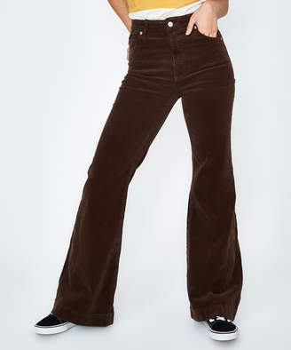 ROLLA'S Rollas Eastcoast Cord Flare Jean Brown