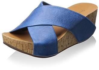 Chocolat Blu Women's Leather X Sandal
