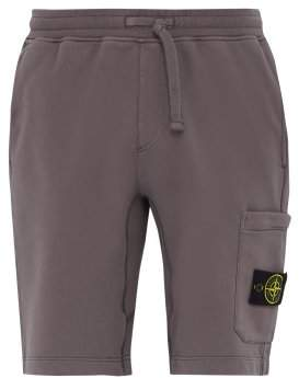 Stone Island Logo Patch Cotton Jersey Cargo Shorts - Mens - Brown