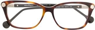 Salvatore Ferragamo tortoiseshell frame glasses