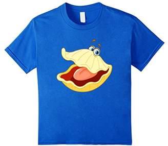 Oyster Cartoon Animal Aquatic Face Fish T-Shirt