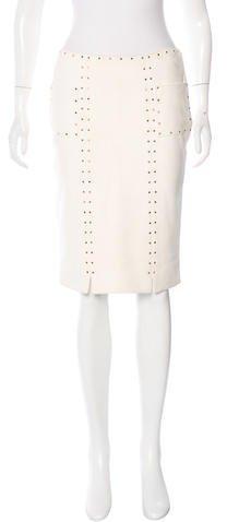 Tom Ford Suede Embellished Skirt