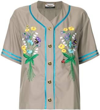Muveil embroidered button shirt