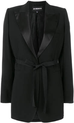 Ann Demeulemeester belted single-breasted blazer