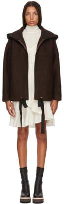 See by Chloe Brown Wool Zip Jacket