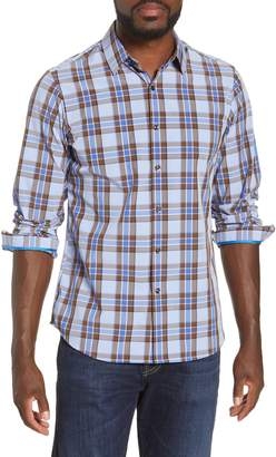 Möve Performance Apparel Regular Fit Plaid Button-Up Performance Shirt
