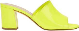 Maryam Nassir Zadeh Mar Patent Yellow Leather Slides