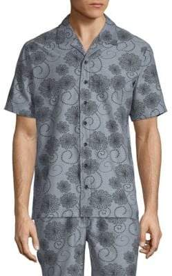 Publish Coen Short-Sleeve Cotton Button-Down Shirt
