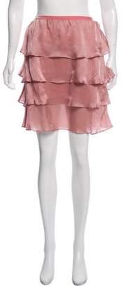 Rebecca Taylor Silk Knee-Length Skirt