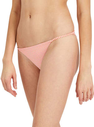 Onia Rochelle Striped Cheeky Bikini Swim Bottom