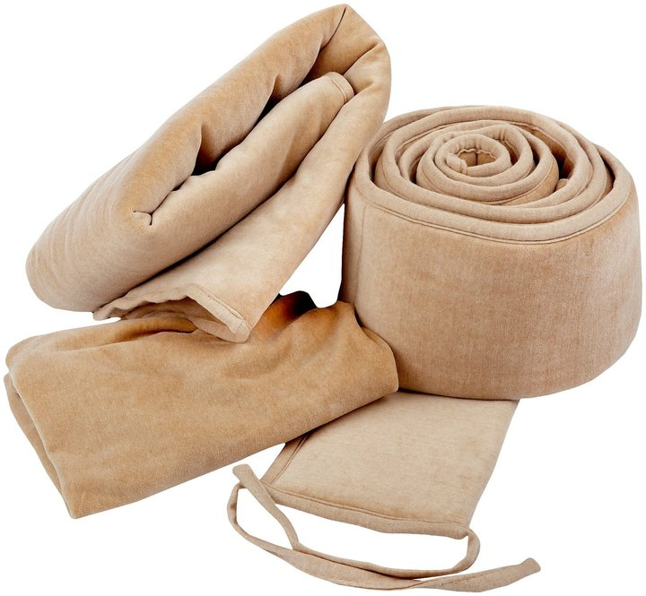 American Baby Company ABC 3 Piece Organic Cotton Mocha Velour Cradle Set