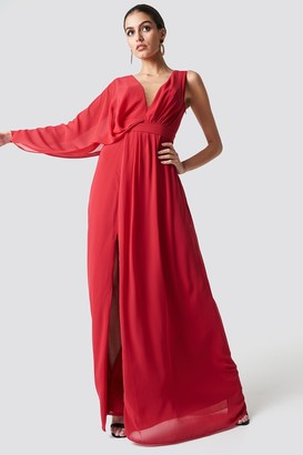 Trendyol One Sleeve Maxi Dress