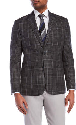 English Laundry Grey Plaid Sport Coat