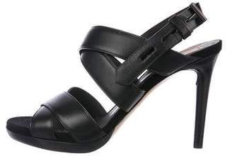 Reed Krakoff Leather Crossover Sandals